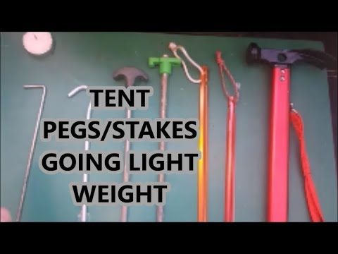 Light Weight Tent Pegs/Stakes And Peg Pick bexbugoutsurvivor