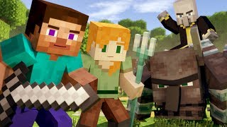 VILLAGE RAID - Alex and Steve Life (Minecraft Animation)