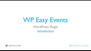 WP Easy Events WordPress Plugin – Introduction