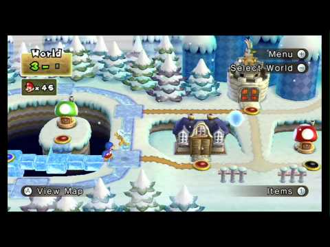 New Super Mario Bros Wii Walkthrough 100 Part 4 World 2 2 4