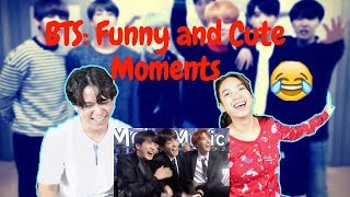 BTS (방탄소년단) Funny And Cute Moments Reaction W/ Real Sister