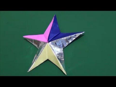 簡単 折り紙 折り紙星折り方立体 : matome.naver.jp