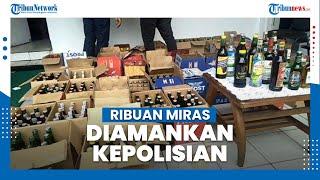 Ribuan Botol Minuman Keras asal Bandung Diamankan di Perumahan Puri Cibereum Permai Sukabumi