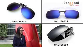 Polarized Clip On Sunglasses Sun Glasses Driving Night Vision Lens.com - Banggood.com