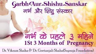 गर्भ और शिशु संस्कार/गर्भ के पहले ३ महिने/1st 3 Months of Pregnancy