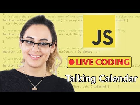 Talking Calendar Javascript Exercise - Blockgeeks Live Coding Session