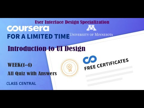 Introduction to UI Design, week (1-4) All Quiz Answers with ...