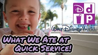 What We Ate In Walt Disney World | Quick Service Credits