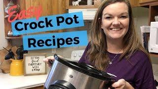 Dump & Go Crock Pot Meals | Quick and Easy Crock Pot Recipes | Large Family Meals