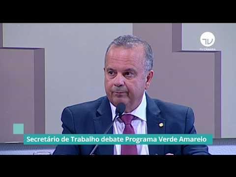 Secretário de Trabalho defende Programa Verde Amarelo - 05/02/20