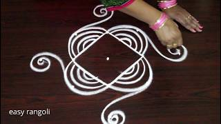 Simple Daily Kolam Designs For Beginners    Easy Rangoli By Suneetha    New Small Muggulu
