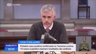 15/03/2020: Registado 1º caso positivo para Covid-19 nos Açores