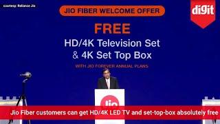 JioFiber Demo & Jio Fiber Welcome Offer (Free HD/4K TV & Set Top Box) Announcement