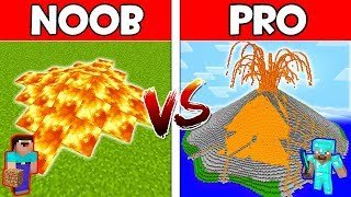 Minecraft - NOOB vs PRO : VOLCANO in Minecraft ! AVM SHORTS Animation