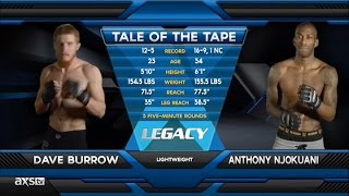 2015 Fight of the Year: Dave Burrow's EPIC Comeback at Legacy 38