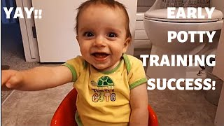 Toilet Training Early with our 7 Month Old Baby Week 3 EC Infant Potty Training
