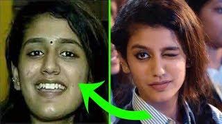 The real face of the Indian actress Priya Prakash