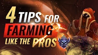 4 Tips To IMPROVE Your CS and Farm Like The Pros - League of Legends