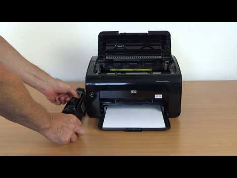 Tonerwechsel beim Hewlett Packard Laserjet P 1102 W