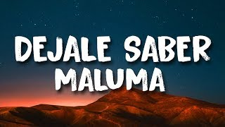 Maluma - Déjale Saber (Letra)