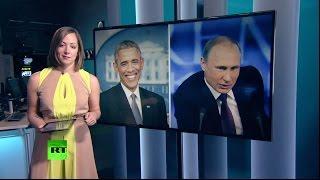 «Демократия» vs «диктатура»: Путин и Обама подвели итоги года