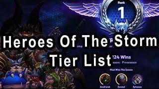 My Heroes Of The Storm Tier List (Rank 1 in Hero League)