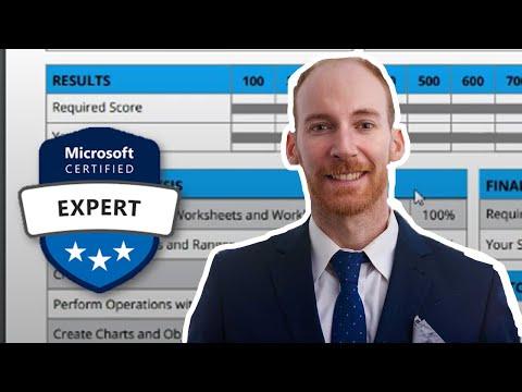 Excel Expert Tutorial (MO-201 Practice Exam) - YouTube