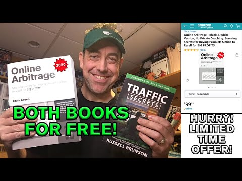 Get my $100 Online Arbitrage book (updated for 2020) FOR FREE when you pre-order Traffic Secrets