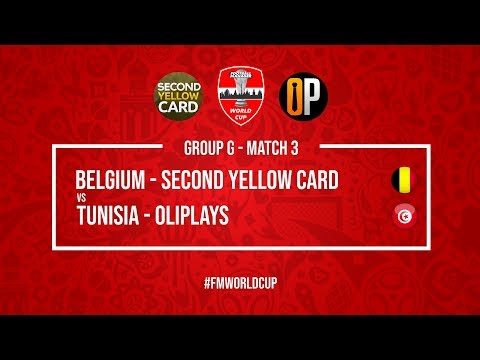 Belgium vs Tunisia | SecondYellowCard vs OliPlays | Football Manager 2018 | #FMWorldCup