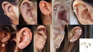 Cartilage Earrings Designs   Ear Piercings Jewelry   Trendy And Stylish Cartilage Earrings Designs
