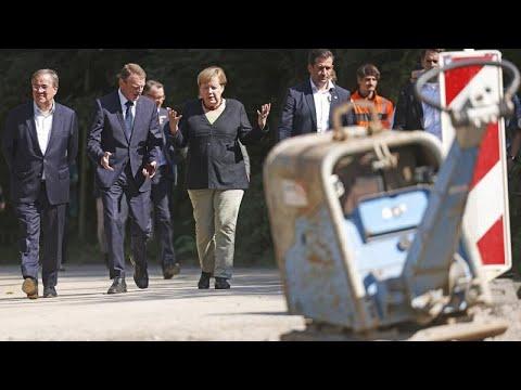Γερμανία: Μέρκελ και Λάσετ στο πλευρό των πληγέντων από τις καταστροφικές πλημμύρες…