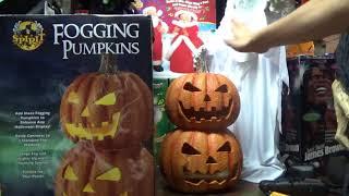 """Spirit Halloween Pumpkin Stack """"Fogging Pumpkins"""" (That dont fog?)"""
