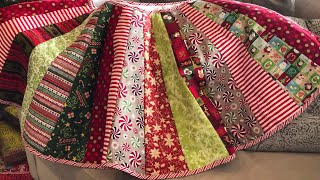 Handmade, Quilted Christmas Tree Skirt Tutorial