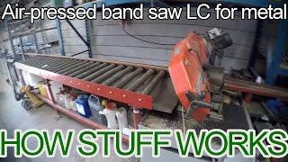 Metal Band Saw Automated liquid cooled