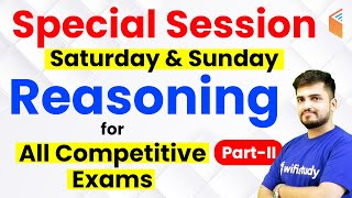 Reasoning by Deepak Sir   Special Session for all Competitive Exams
