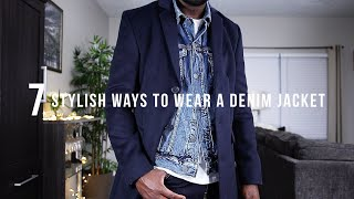 7 STYLISH WAYS TO WEAR A DENIM JACKET FOR EVERY SEASON   Mens Fashion & Style Tips   I AM RIO P.