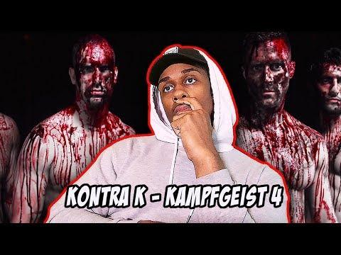 Kontra K - Kampfgeist 4 (Official Video) | American reacts to german rap
