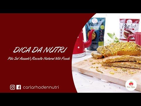 PÃO 5X1 ASSADO | Natural Mix Foods | Nutricionista Carla Rhoden