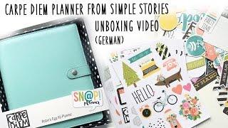 Carpe Diem Planner Unboxing Video (German)