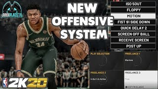 How To Run 5 Out ISO Offense In MyTeam & Play Now Online - NBA 2K20 Tips & Tutorial - Bucks Playbook