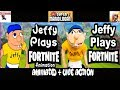 SML Movie: Jeffy Plays Fortnite! Animated + Live Action