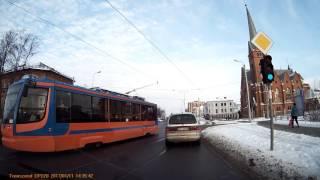 Столкновения с трамваем удалось избежать