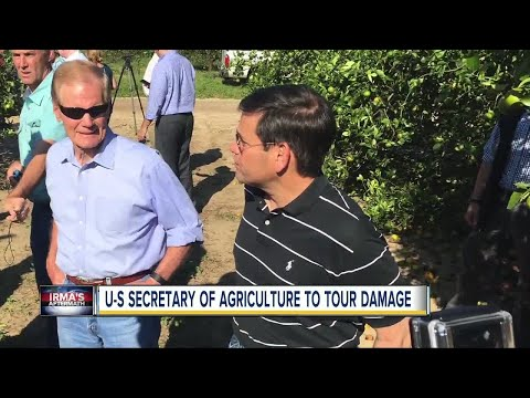 U.S. Secretary of agriculture to tour Irma damage