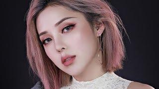Pink Gold Glittery Make Up (With Sub) 핑크 골드 글리터리 메이크업