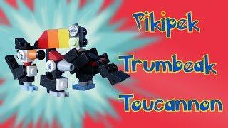 Toucannon  - (Pokémon) - Lego Pokemon: Pikipek, Trumbeak, Toucannon Animation + Instructions