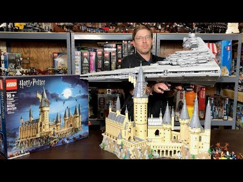 Lego Hogwarts Castle 71043 No Sticker Review and Comparison - 2nd largest ever!?