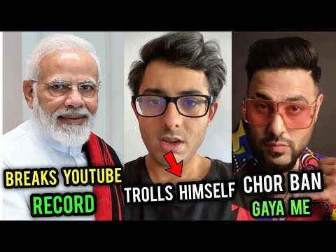 Download PM Modi Breaks All YouTube Record? | CarryMinati Trolls Himself | Badshah Angry on Controversy Mp4 HD Video and MP3