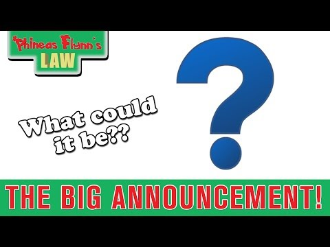 The BIG Announcement!!! | Phineas Flynn's Law News Update