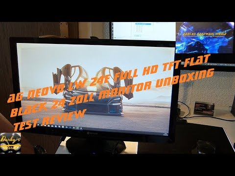 AG Neovo LW-24E Full HD TFT Flat Black 27 Zoll Monitor Unboxing-Test-Review