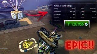 Tanki Online - Epic Gold Box Montage #42 + Garage Upgrade Striker M4! Tанки Онлайн